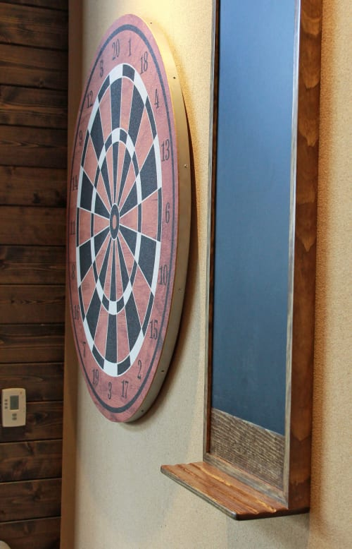 Art & Wall Decor by Organik Creative seen at Ascent Victory Park Apartments, Dallas - Dart Boards