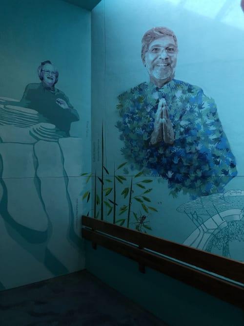 "Murals by Nelson Gutierrez Studio seen at University of Memphis, Memphis - ""The Accumulation of Droplets"""