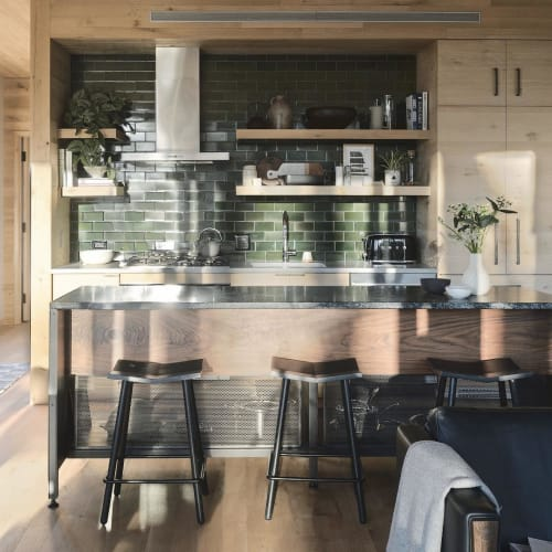 Chairs by Souda seen at Private Residence, New York - Mitre Counter Stools