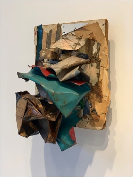 Sculptures by John Chamberlain seen at Paula Cooper Gallery, New York - Untitled (1961)