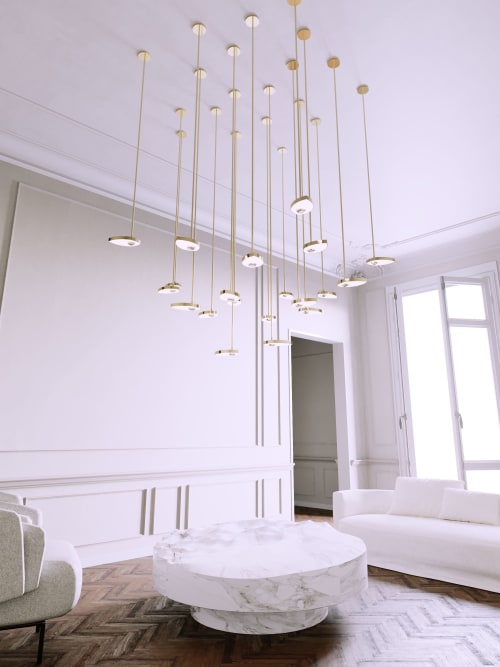 Chandeliers by Ovature Studios seen at Private Residence, Paris - Lilly Chandelier