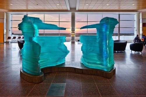 Sculptures by Warren Carther seen at Winnipeg James Armstrong Richardson International Airport, Winnipeg - Aperture