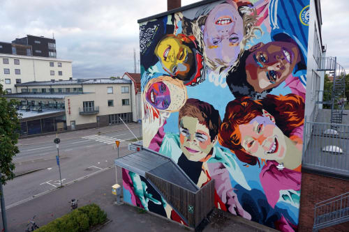 Ruskig Ångest - Public Art and Murals