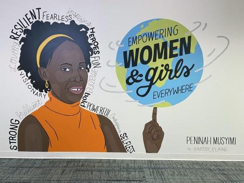 Murals by Elaine Stephenson Art & Design, LLC seen at CARE, Atlanta - Peninah
