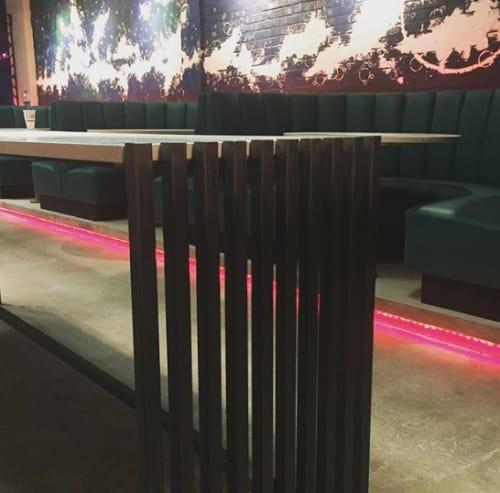 Tables by Metal Fred seen at Rambler Cocktail Bar, Nashville - Rambler base