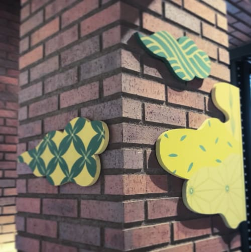 Art & Wall Decor by Frankie Cihi seen at WIRED CHAYA浅草店, Taito City - Matcha Theme Panel Installation