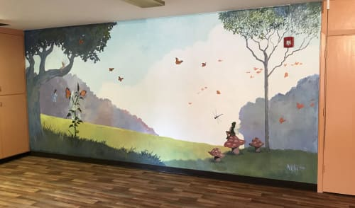 Murals by Scott Willis seen at Saratoga French Cultural Preschool, Saratoga - Saratoga French School Mural