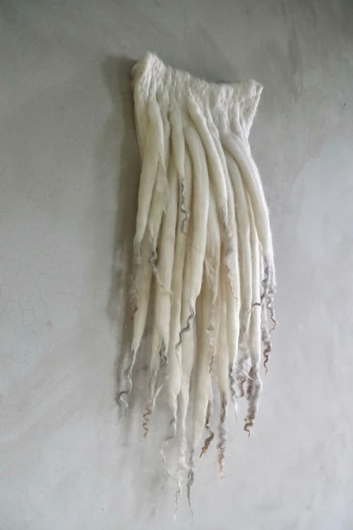 Wall Hangings by Taiana Giefer seen at Private Residence, Santa Barbara - Seed No.1815: White Shadow