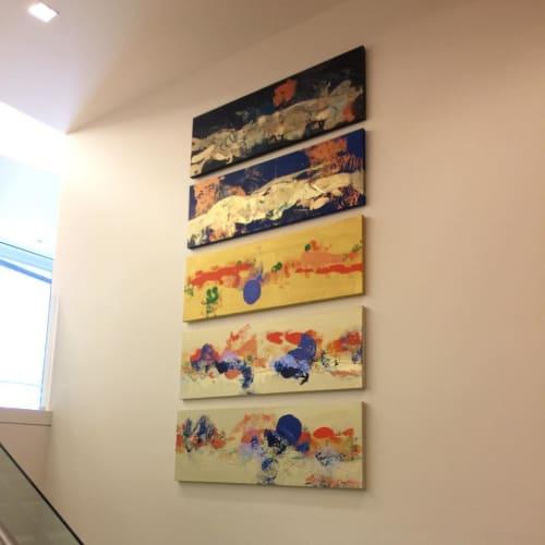 Paintings by Natasha Shoro seen at CTBC Bank, Los Angeles - Desert Horizon 1-5