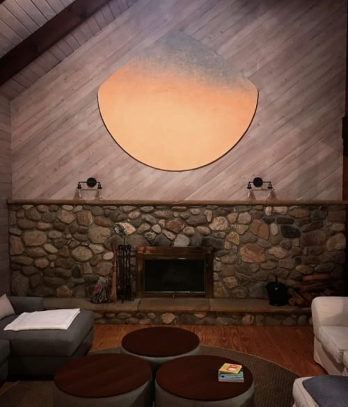 Paintings by Jacqueline Ferrante seen at Private Residence, Orient - Night