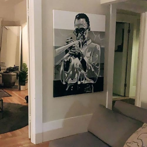 Paintings by E. Trent Thompson seen at Private Residence, Oakland - Miles Davis