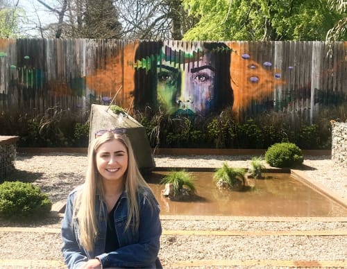 Murals by Rose McDonald seen at Bute Park, Cardiff - Mural