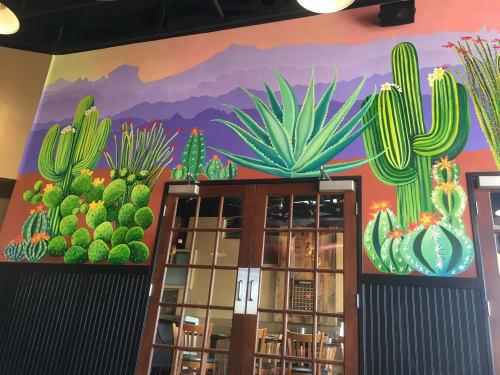 Murals by Rachel Kaiser Art seen at The KAWS, Lake Havasu City - Havasu Desert Mural