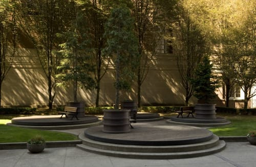 Public Sculptures by Daniel Laskarin seen at Vancouver, Vancouver - Working Landscape