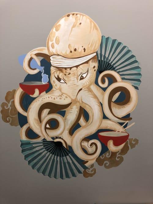 Murals by Vmixo seen at Atlas Restaurant Group, Baltimore - Octopus