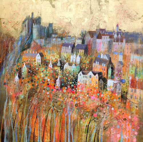 Paintings by BLYTHE SCOTT seen at Private Residence, San Francisco - 'Gold Reekie'