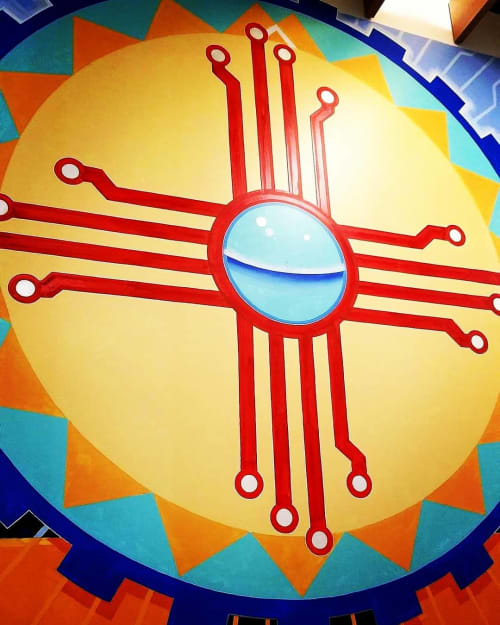 Murals by Justin Queal seen at Facebook Data Center - Los Lunas, Los Lunas - Facebook Mural