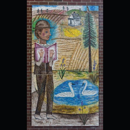 "Public Mosaics by Joanne Hammer at Eastern Washington University, Cheney - ""In Wanting to Know"""