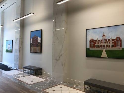 Paintings by Jeff Pugh seen at Kearns Building, Salt Lake City - Painting
