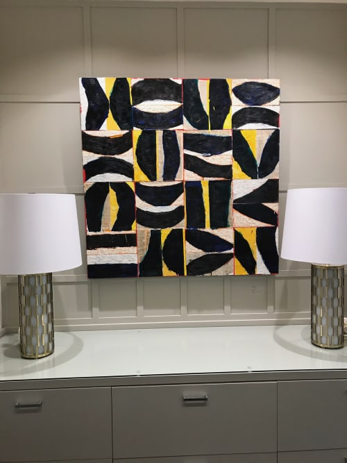 """Paintings by Brad Ellis - Artist seen at Private Residence, Austin - Painting: """"Currents"""""""