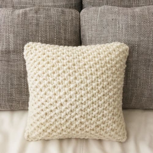 Pillows by Tracey MacKenzie seen at Private Residence, Montreal - Wool cushion