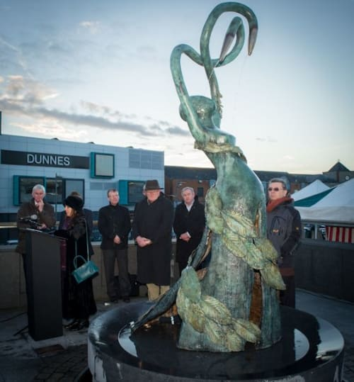 Public Sculptures by Betty Newman-Maguire seen at Kennedy Road, Navan - Becoming
