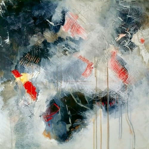 Paintings by Connie O'Connor seen at Private Residence - Rebirth Abstract Series 'In Neutral' painting
