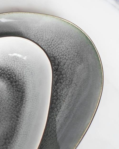 Ceramic Plates by Mieke Cuppen seen at Bistrobar Berlin, Nijmegen - Gastro Oval plate big