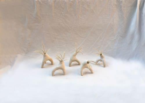 "Vases & Vessels by Mara Lookabaugh Ceramics seen at Creator's Studio, Brooklyn - ""legs"""