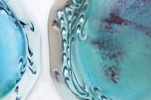 Ceramic Plates by Lora Rust Ceramics seen at Private Residence, Atlanta - Plates and bowls