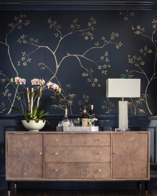 Wall Treatments by Caroline Lizarraga seen at Private Residence, New York - Chinoiserie Blue and Gold Wall