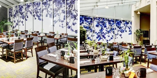 Interior Design by Angela Cameron seen at New York, New York - Hilton Garden Inn  Custom Window Film