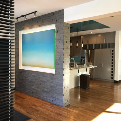 Paintings by Lindsy Halleckson seen at Private Residence, Minneapolis - Sky Gradient Blue