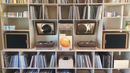 Furniture by Koeppel Design seen at peasantries + pleasantries, Salt Lake City - Custom record dividers at SLC record store