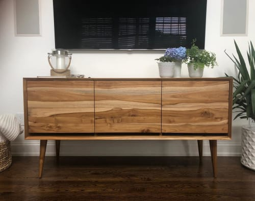Furniture by From the Source seen at Private Residence, Jersey City - Teak Cache Media Cabinet