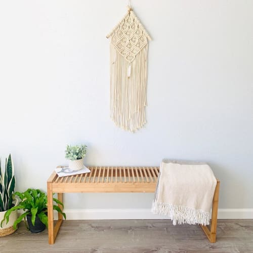 Macrame Wall Hanging by Love & Fiber seen at Private Residence, San Diego - Fringe