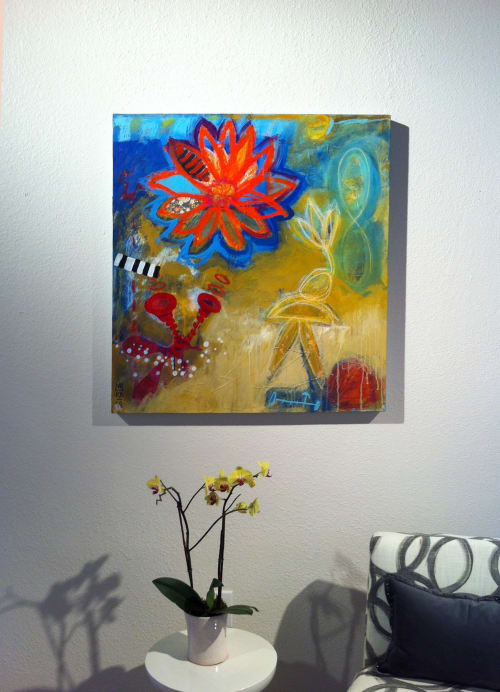 Paintings by Katherine Baronet seen at Lisa Bennett Salon, Dallas - In the garden of Properity  :: SOLD