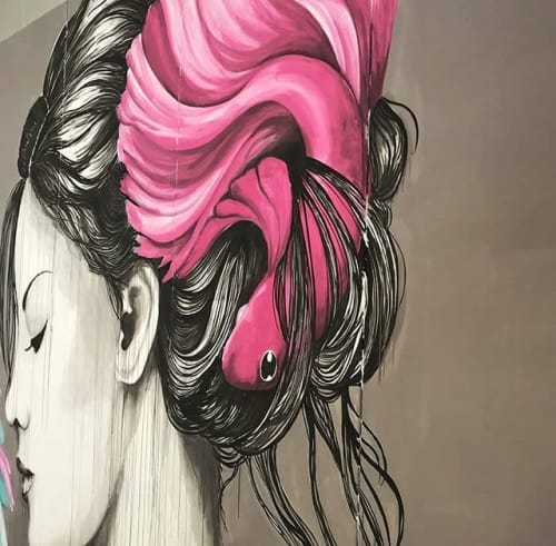 Murals by Stefania Gallina - MAPU Lab seen at Milan, Milan - Turin according to me - commissioned mural
