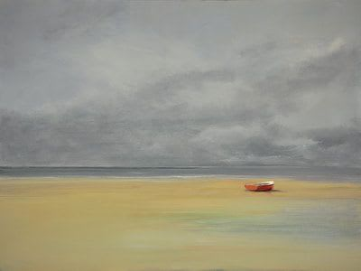 "Art & Wall Decor by YJ Contemporary seen at East Greenwich, East Greenwich - Anne Packard ""Red Boat"""