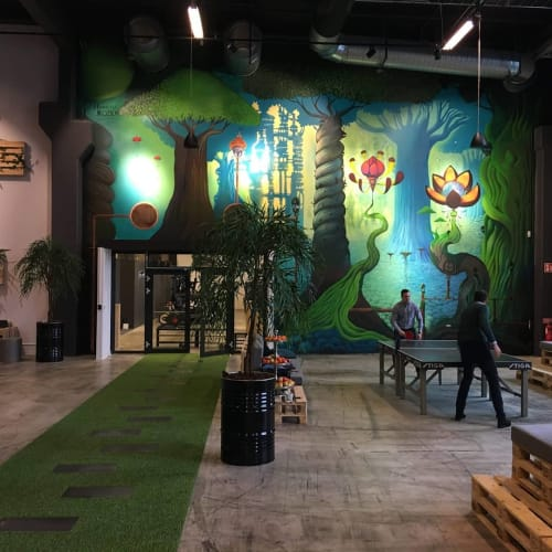 Murals by Art by Kozica seen at Nowaste Logistics AB, Dalhem - Indoor Mural