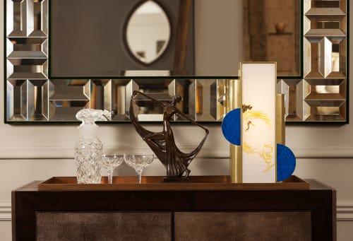 Lamps by Ori Bespoke seen at Chelsea Harbour Design Centre, London - Deco Crane