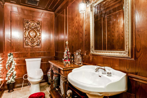 Architecture by Iconic Cabinets Inc. seen at Private Residence, Edmonton - Beck bathroom