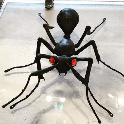 Sculptures by Sean Goddard seen at Salt Spring Island - Metal Ant