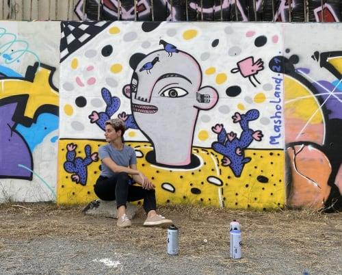 Masholand at Parc del Forum   Street Murals by Masholand