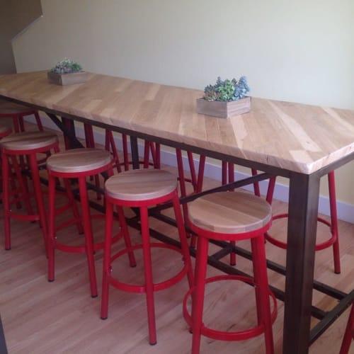 Tables by Santee Design seen at Homeroom, Oakland - Oak Top Table