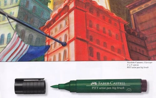 Paintings by Nicolette Atelier seen at Faber-Castell USA, Cleveland - Cityscape