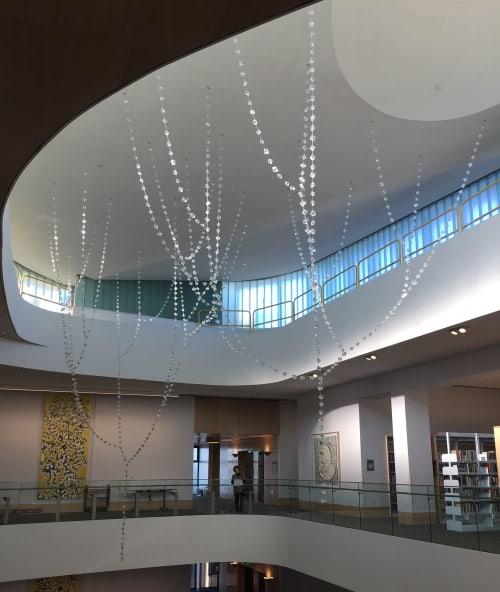 Sculptures by Kana Tanaka seen at The Hayward 21st Century Library and Community Learning Center, Hayward - Crystals