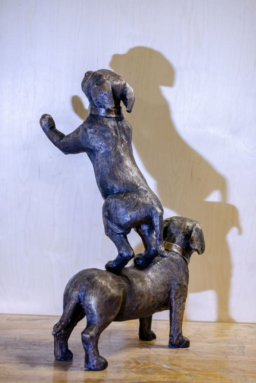 Sculptures by Lundberg Industrial Arts seen at 625 W Town St, Columbus - THE TEAM