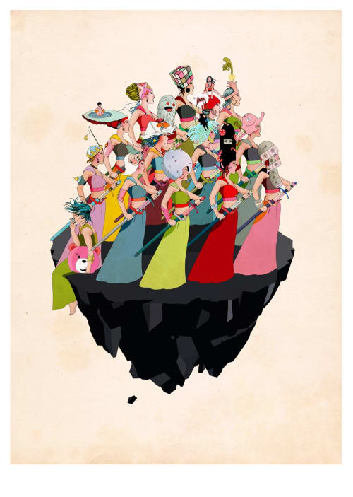 Army II | Paintings by Delphine Lebourgeois