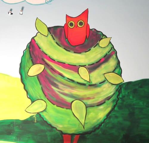Murals by Emily Williams-Wheeler seen at West Acres Regional Shopping Center, Fargo - Children's Playroom